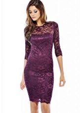 Eggplant Medium Length Dress