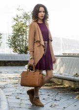 Dress marsala takki ja saappaat ruskea