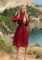 Marsala Midi-pituus rento mekko