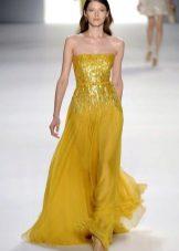 Beautiful mustard dress