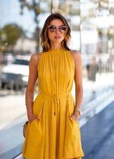 Accessories for summer mustard dress