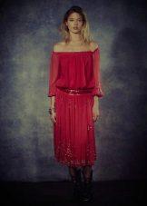 Raspberry Free Cut Dress