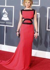 Crimson dress for women aged