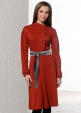 Wine-colored dress with terracotta tint