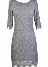 Pearl Grey Lace Dress