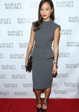 Jamie Chung in gray dress