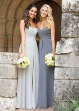 Dresses of different shades of gray