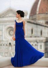 Uzun lacivert elbise