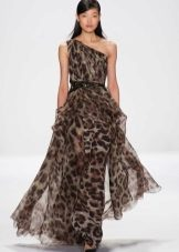 Dress with leopard print