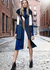 Outerwear under a color dress