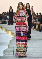 Dress with ethnic motifs