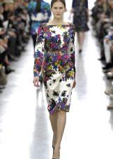 Colored midi dress