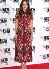 Keira Knightley's color dress