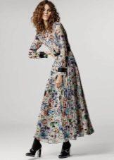 Long Sleeve Color Midi Dress