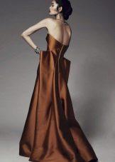 Orange brun kjole