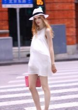 Zwangerschaps korte A-lijn jurk