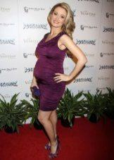 Lila zwangerschapsjurk