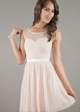 Milk dress with guipure