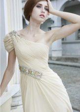 Milky dress for brunettes