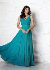 Dress with seaweed draping maximum length