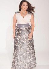 Dress for the full white top