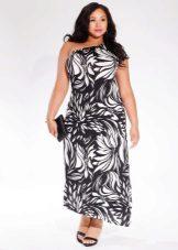 Asymmetrical two-tone dress for full