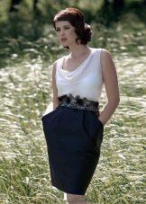 White Top Sheath Dress