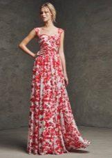 Flower evening dress