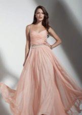 Peach-lattiapituinen mekko
