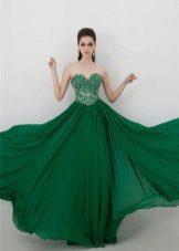 Groene jurk op de grond