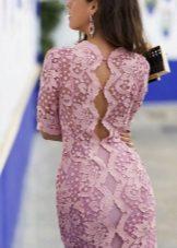 Rochie roz tricotata