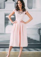 Roz rochie de mireasa magnific