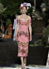 Roz rochie de mireasa