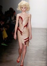 Body dress with red elements