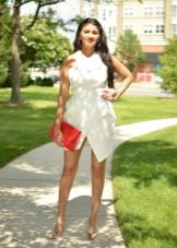 White summer asymmetrical dress