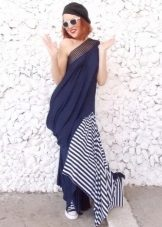 Asymmetrical long dress