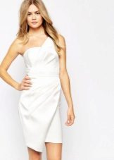Short white asymmetrical dress