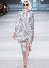 Stripad skjorta klänning