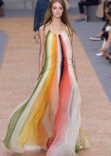 Stripad klänning väska