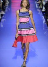 Csíkos a-silhouette ruha