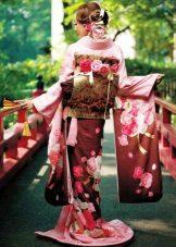 Bröllop kimono klänning