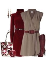 Gray dress and accessories for women for the color type Deep Winter