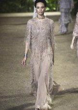 Elie Saab lente-zomer 2016 kralen Fringe jurk