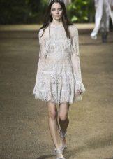 Elie Saab lente-zomer 2016 A-lijn jurk met korte mouwen