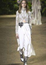 Elie Saab lente-zomer 2016 broek met een afneembare rok