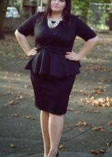 Vestit d'oficina negre amb arc ple