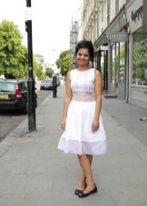 White dress A-silhouette medium length
