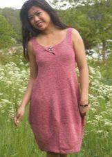 Vestido curto de malha de balão