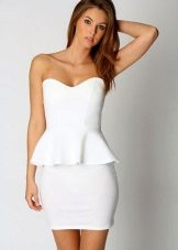 White Bustier Sheath Dress