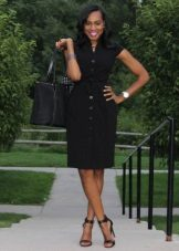 Black Business Shirt Dress